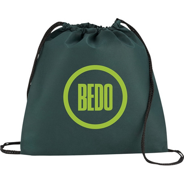 1 Day Service Non Woven Drawstring Backpacks, Custom Imprinted With Your Logo!