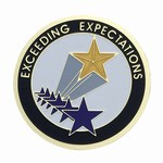 Custom Engraved Exceeding Expectations Emblems and Seals