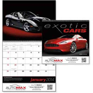 Custom Printed Exotic Cars Appointment Calendars