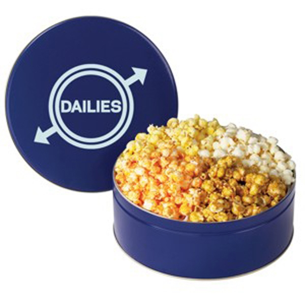 Custom Printed Four Flavor Popcorn Tins
