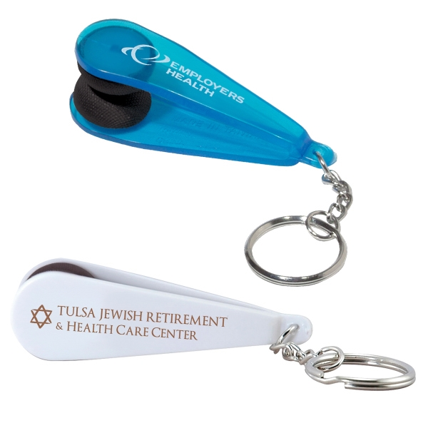 Custom Printed Microfiber Cleaning Keychains