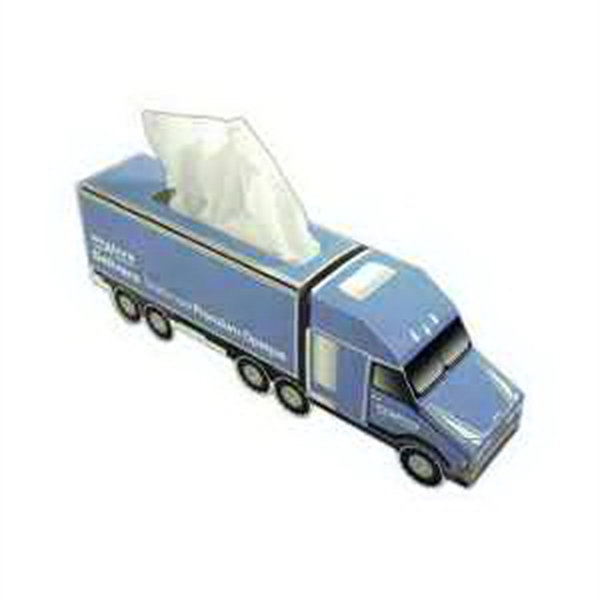 Semi Truck Shaped Tissue Boxes, Customized With Your Logo!