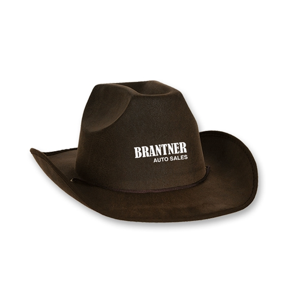 Custom Printed Faux Suede Cowboy Hats