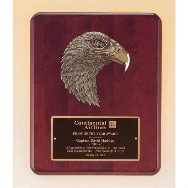 Airflyte Honor Award Plaque Engraved Eagle, Custom Engraved With Your Logo!