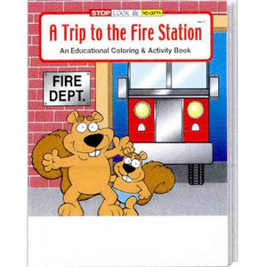 Custom Printed Fire Department Coloring and Activity Books