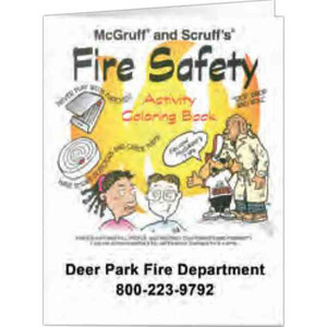 Custom Printed Fire Safety Activity Books