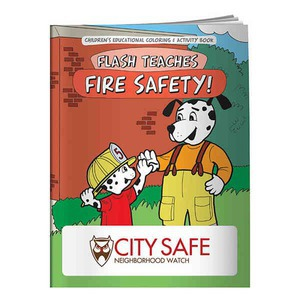 Custom Printed Fire Safety Themed Coloring Books