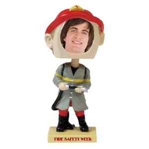 Custom Printed Fireman Bobble Head Picture Frames