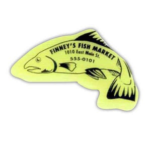 Custom Printed Fish Shaped Erasers