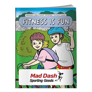 Custom Printed Fitness Themed Coloring Books