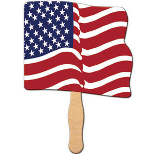 Custom Printed Flag Cutout Stock Shaped Paper Fans
