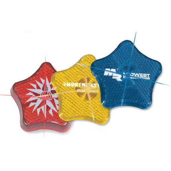 Custom Imprinted Star Shaped Safety Reflectors