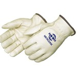 Custom Printed Fleece Lined Cowhide Gloves