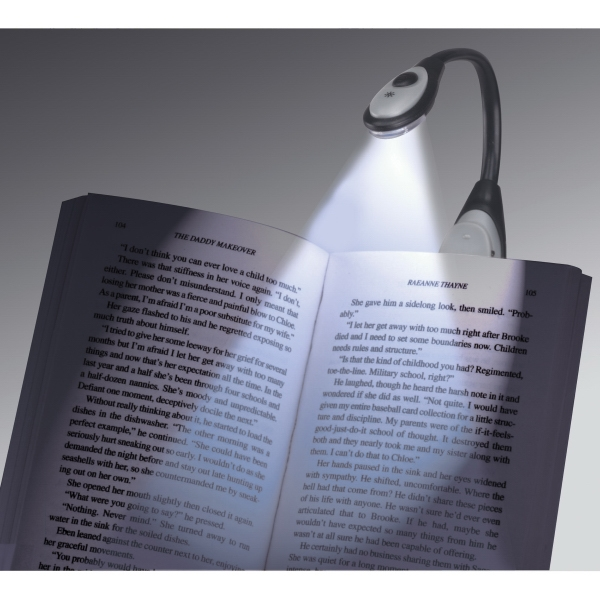 1 Day Service Black Flex Book Lights, Custom Imprinted With Your Logo!