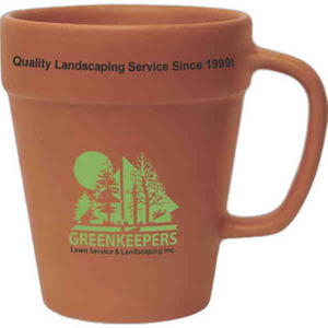 Flower Pot Mugs, Custom Imprinted With Your Logo!