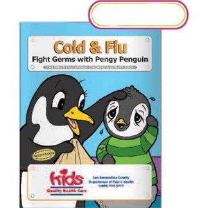 Custom Printed Flu Virus Prevention Coloring Books
