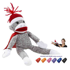 Custom Printed Flying Shrieking Sock Monkey Animal Toys