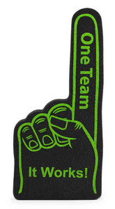 Foam Hands, Custom Imprinted With Your Logo!