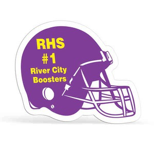 Custom Printed Football Helmet Shaped Magnets