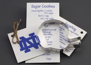 Custom Printed Football Helmet Stock Shaped Cookie Cutters