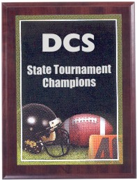 Custom Printed Football Photo Sport Plaques