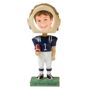 Custom Printed Football Player Bobble Head Picture Frames