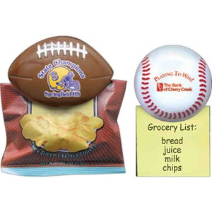 Football Shaped Bag Clips, Custom Printed With Your Logo!