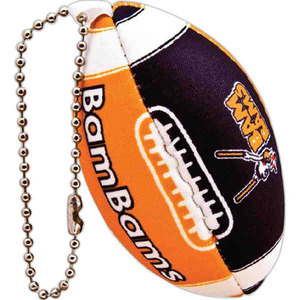 Custom Printed Football Shaped Key Chains