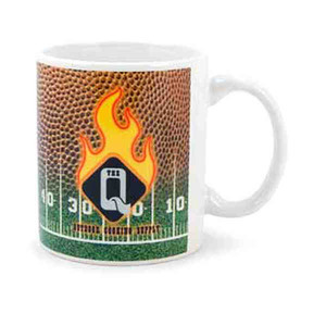 Custom Printed Football Shaped Mugs