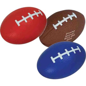 Custom Printed Football Shaped Stress Relievers