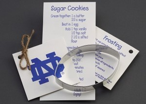 Custom Printed Football Stock Shaped Cookie Cutters
