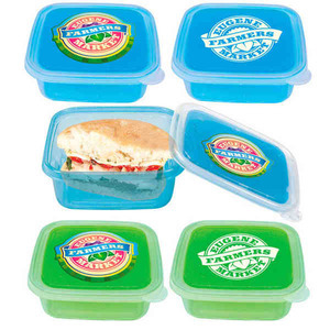 Custom Printed Freezable Gel Lid Food To Go Containers