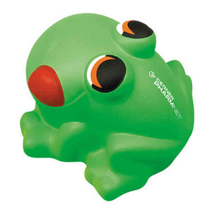 Custom Printed Frog Shaped Stress Relievers