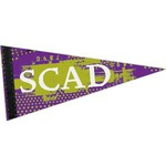 Custom Printed Full Color Felt Sports Pennants