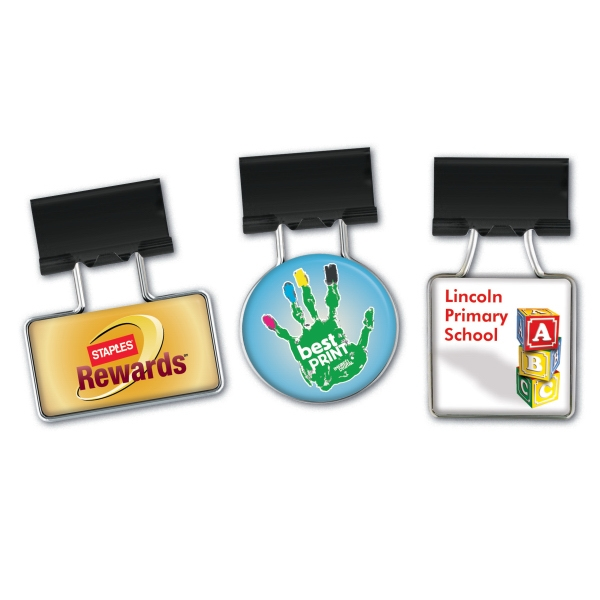 Custom Printed Square Binder Clips