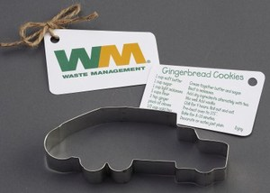 Custom Imprinted Garbage Truck Stock Shaped Cookie Cutters