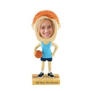 Custom Printed Girls Basketball Player Bobble Head Picture Frames