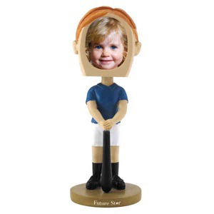 Custom Printed Girls Softball Player Bobble Head Picture Frames