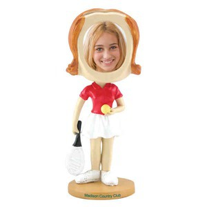 Custom Printed Girls Tennis Player Bobble Head Picture Frames