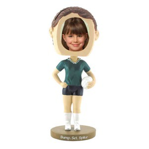 Custom Printed Girls Volley Ball Player Bobble Head Picture Frames