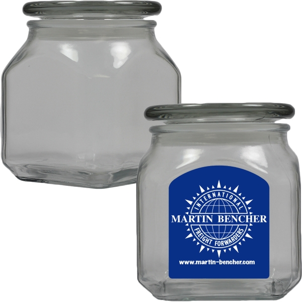 Custom Imprinted Glass Canisters