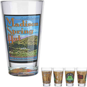 Custom Printed Glass Pint Glasses