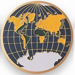 Custom Engraved Globe Award Emblems and Seals