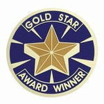 Custom Engraved Gold Star Award Emblems and Seals