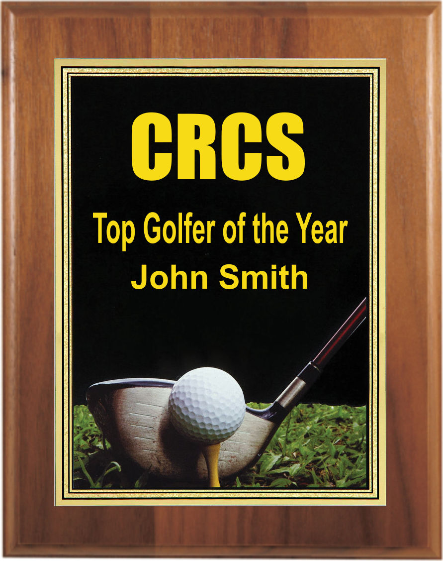 Custom Printed Golf Photo Sport Plaques