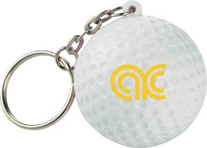Custom Printed Golf Sport Themed Keychains