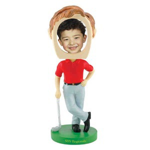 Custom Printed Golfer Bobble Head Picture Frames