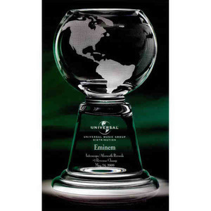 Grande Planet Globe Crystal Awards, Custom Printed With Your Logo!