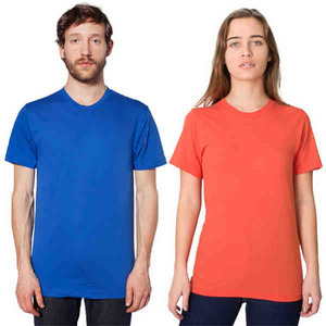 Custom Printed American Apparel Short Sleeve T-Shirts For Men
