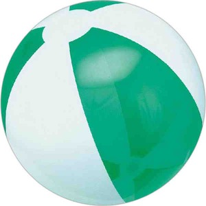 Custom Printed Green and White Alternating Color Translucent Beach Balls